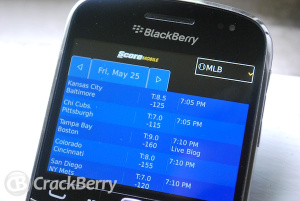 ScoreMobile for BlackBerry