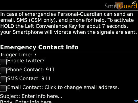 SmrtGuard for BlackBerry