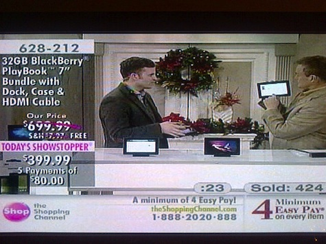 BlackBerry PlayBook Shopping Channel