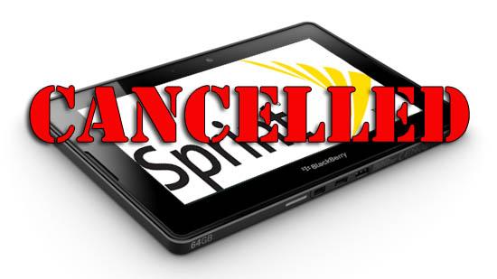 Sprint PlayBook Cancelled