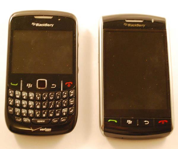 BlackBerry Curve 8530, Storm 9530