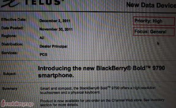 BlackBerry Bold 9790 Telus