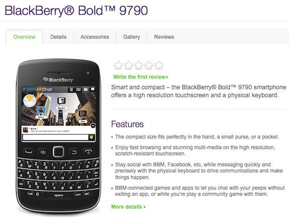 Telus BlackBerry Bold 9790