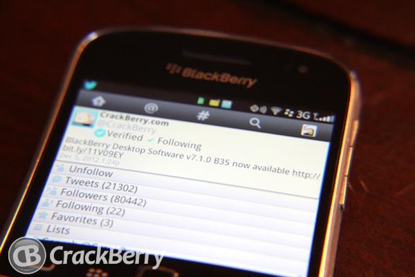 Twitter for BlackBerry