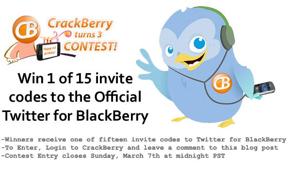 Twitter for BlackBerry Contest