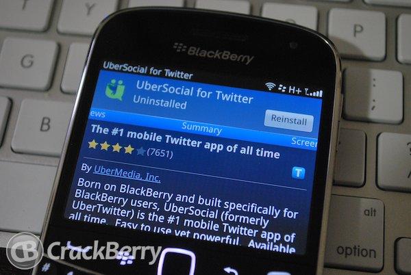 UberSocial BlackBerry