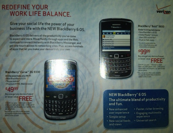 Verizon Flyer BlackBerry 6