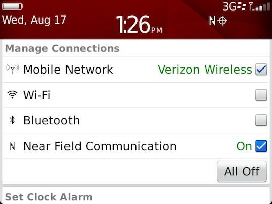 Verizon BlackBerry Bold 9930 NFC