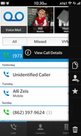 View Call Details