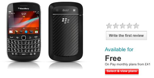 Vodafone UK Bold 9900 Preorder