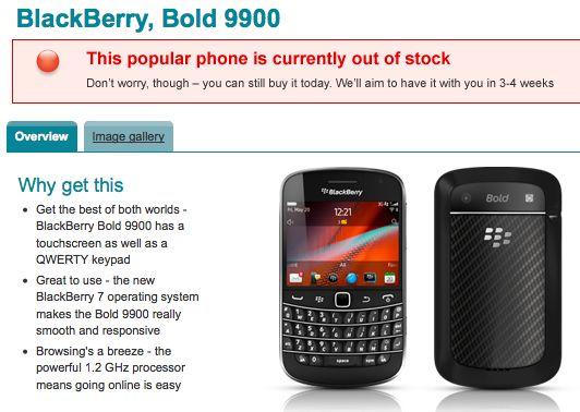 Vodafone Bold 9900