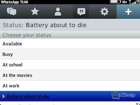 WhatsApp BlackBerry Beta