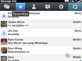 WhatsApp BlackBerry Beta