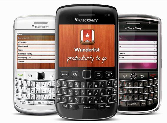 Wunderlist BlackBerry