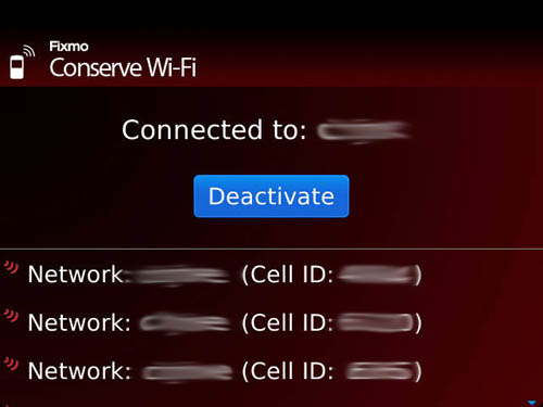 Fixmo Tools Conserve WiFi