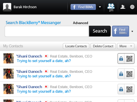 Search 4 BBM locate contacts