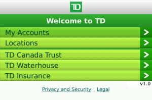 TD banking application