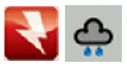 Ace Weather Forecasts inactive and active icons