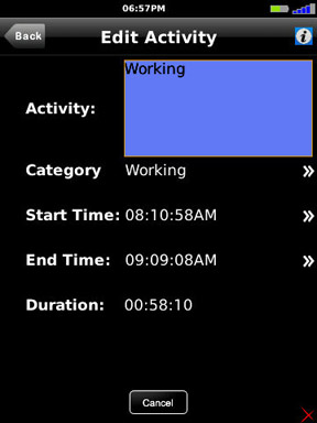Activity Log edit activity