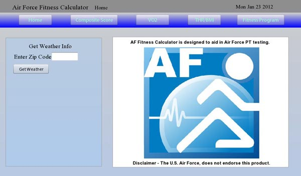 AF Fitness Calculator