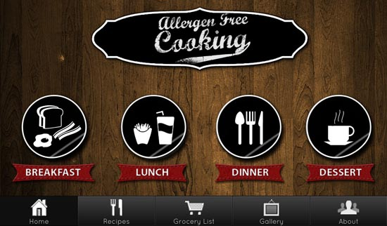 Allergen Free Cooking Main Menu