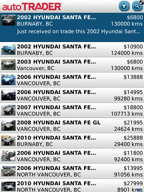 autoTRADER car list