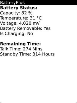 BatteryPlus Status