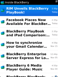 BlackBerry News Feeds