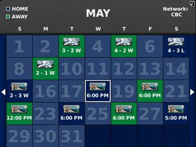 canucks schedule