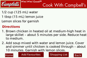 Cook with Campbell`s directions