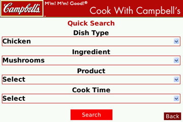 Cook with Campbell`s search