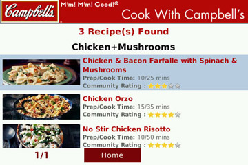 Cook with Campbell`s search results
