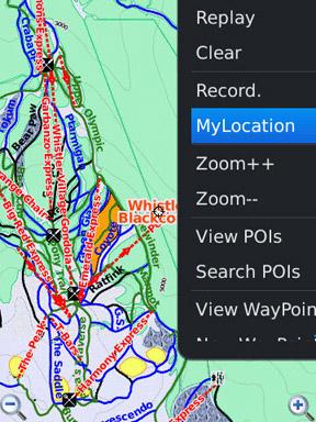 GPS Ski Maps map view