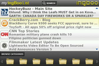 WebStart main menu