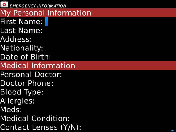 My Info