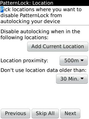 PatternLock unlock by location