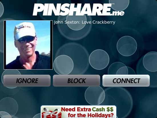 PinShare received message