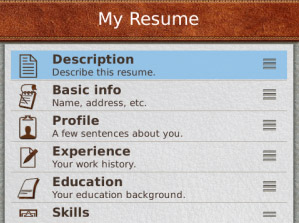 Pocket Resume