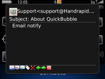 QuickBubble email popup