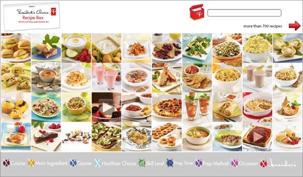 Recipe Box main menu