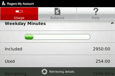 My Account Usage