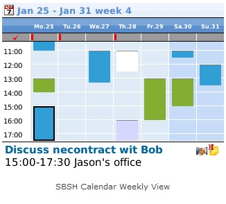SBSH Calendar Pro