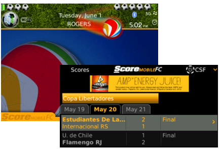 FREE ScoreMobile World Football Theme w ScoreMobile FC App Bundle!