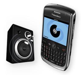 shazam pour blackberry curve