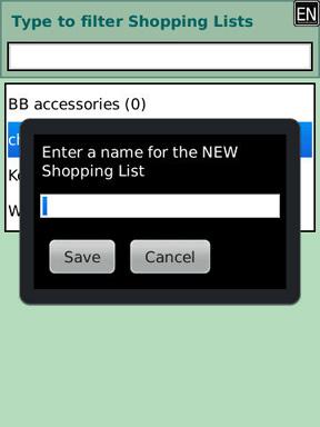 ShopCreel new shopping list