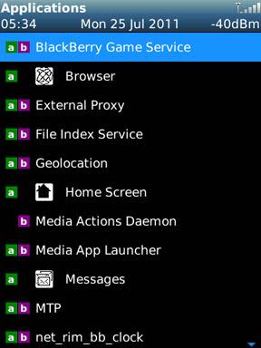 SystemDash running apps
