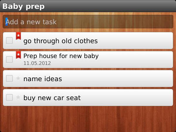 Wunderlist tasks