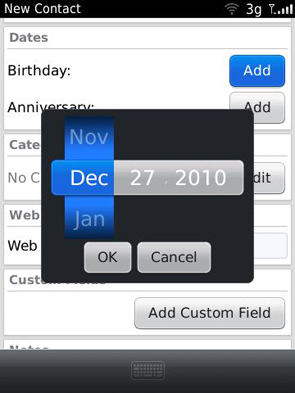 Contacts - Birthdays & Anniversaries