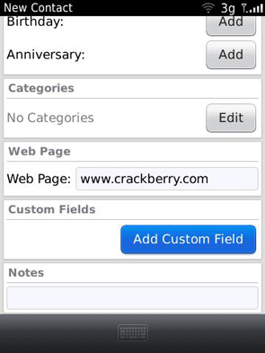 Contacts - add custom field