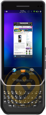 An idea of what BlackBerry 10 might look like on the Milan